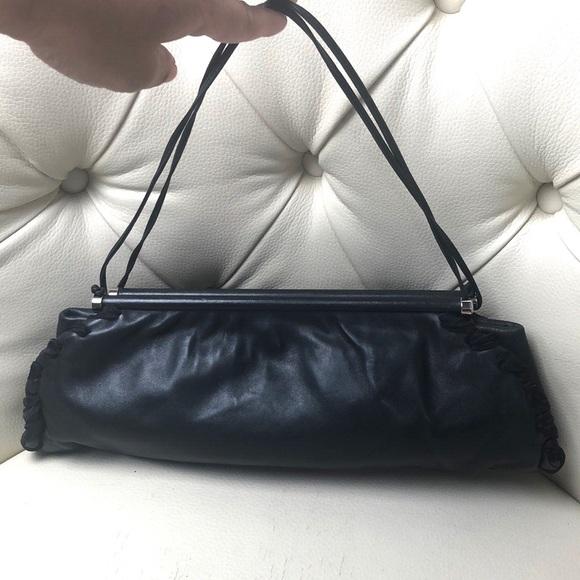 58478c916a Emporio Armani Black Leather Clutch Bag